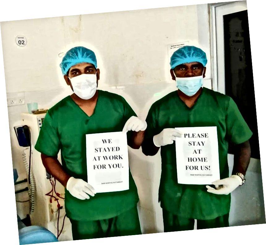 Doctores en Sri Lanka (fuente: Twitter)