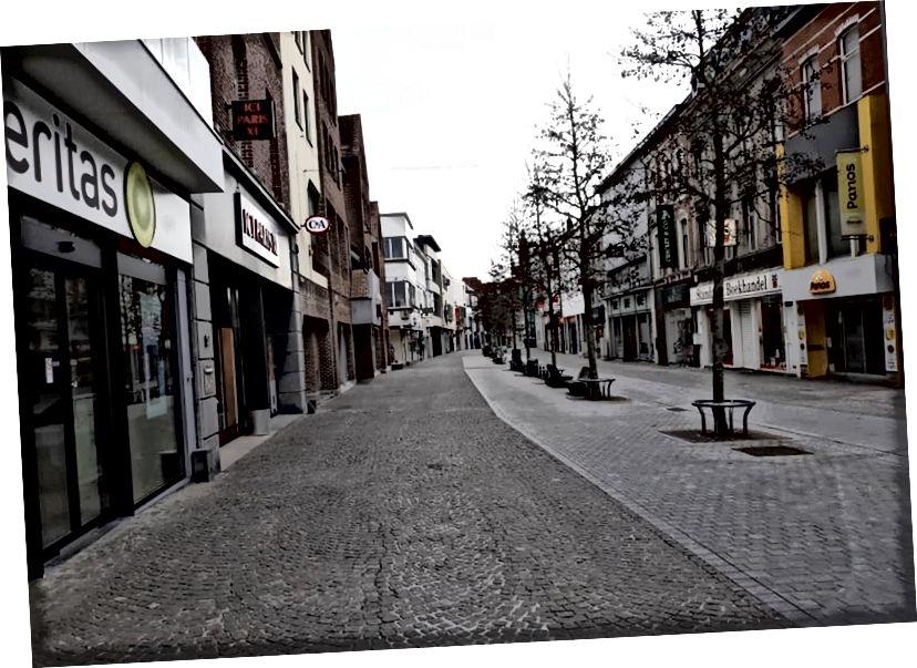 Szellemváros Belgiumban (fotó jóváírás: digitaleregioaalst)