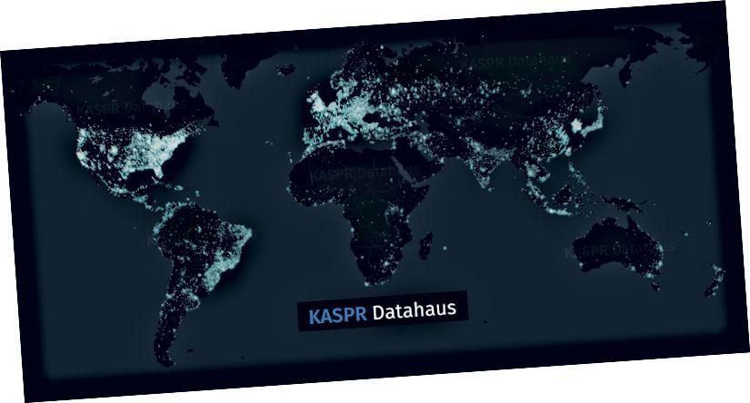 Kuva 2: KASPR Datahausin aktiivisen Internet-tilan havainnot. Yli 300 miljoonaa kiinteää reunayhteyttä. Miljardit havainnot päivässä.