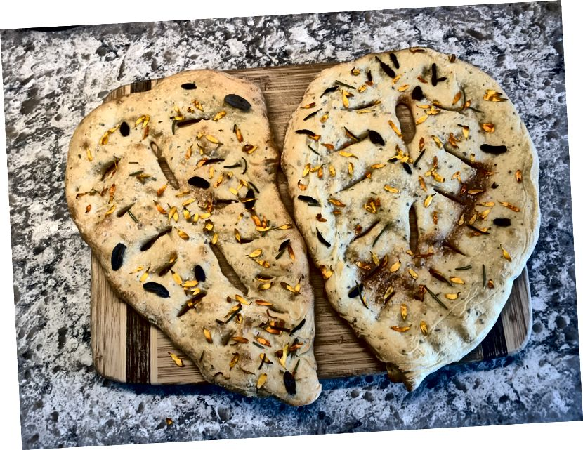 Vi gjorde lite bröd igår. Det var kul…