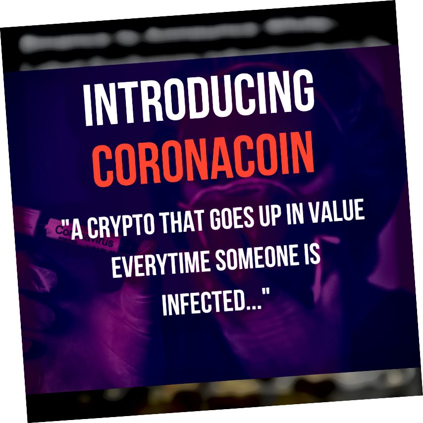 CoronaCoin | CoronaVirus + Crypto