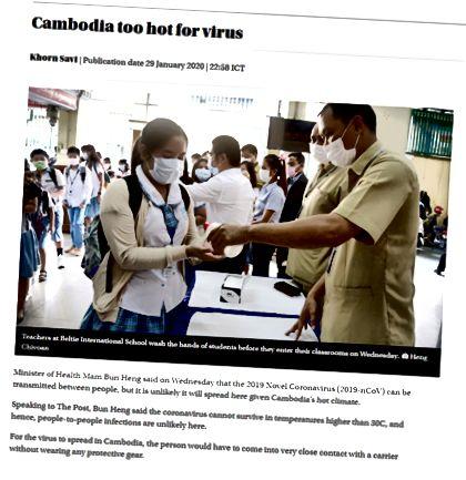Phnom Penh Post, Kambodžassa sijaitseva merkittävä uutistoimisto, rauhoittaa paniikkia otsikolla