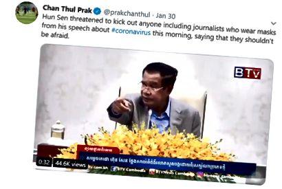 Kambodzan pääministeri vakuuttaa väitteensä, jonka mukaan paniikkia ei tarvita