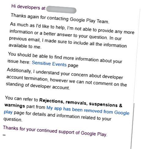 Googlen vastaus toiseen valitukseen