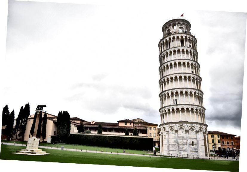 Pisan kalteva torni: kuvan laatija