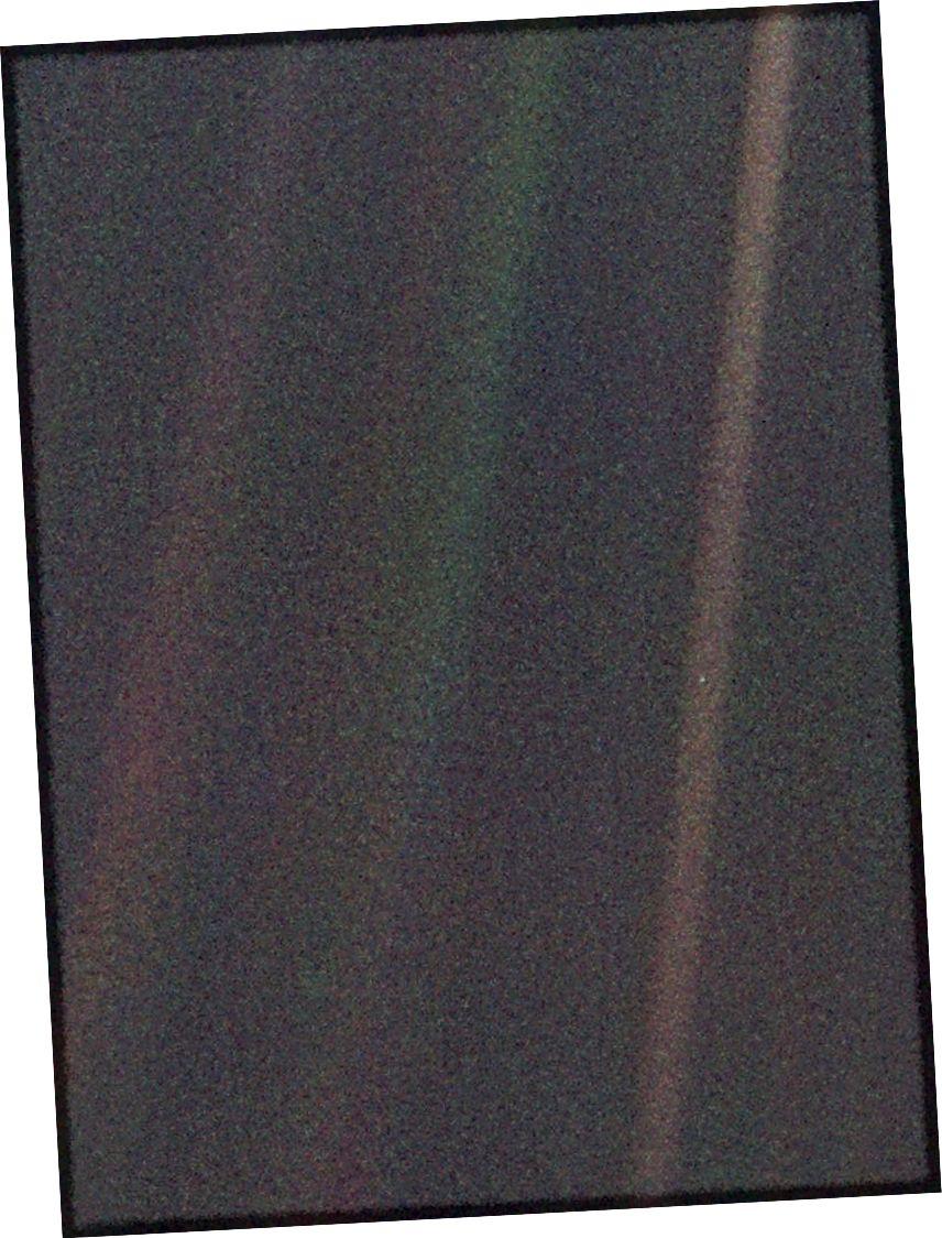 A Voyager 1 által készített fotó, 1990. február 14 (NASA)