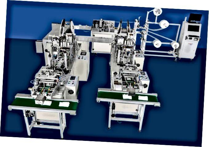 Ejemplo de un equipo de producción de mascarillas completamente automático