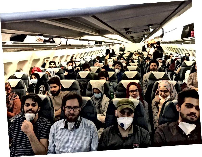 Vuelo de Air India transportando a estudiantes indios varados en Irán