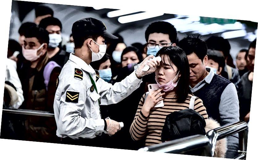 Пункты проверки температуры тела теперь установлены во всех городах Китая.