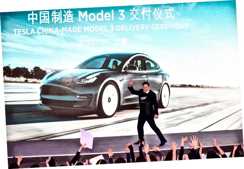 A Tesla Shanghai Gigafactory a koronavírus kitörése miatt a kínai vállalkozások kormány által megbízott leállítása után folytatta működését. (Fénykép: AFP keresztül Getty)