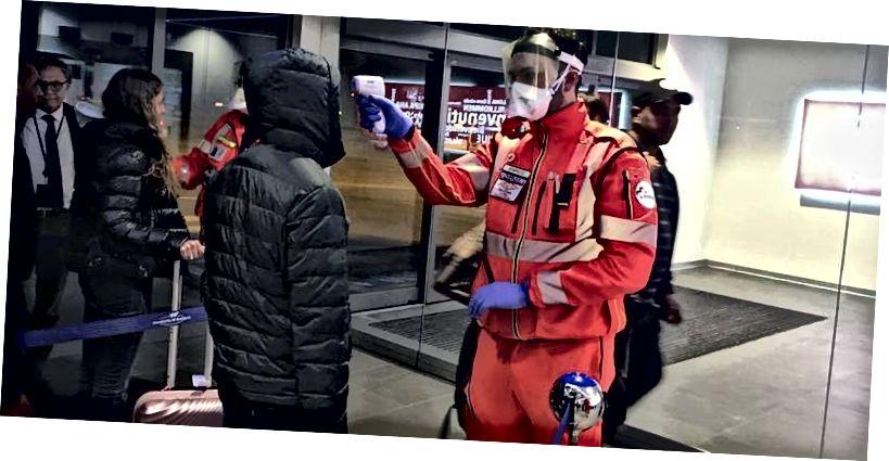 Tilannekuva sairaalasta Italiassa, melkein kuukausi sitten. Nykyään se on huonompi. Lähde: Emergenza coronavirus Kirjoittaja: Dipartimento Protezione Civile Italiasta
