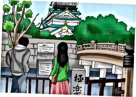 Osaka qal'asiga sayohat