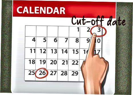 Спазване на датата на прекъсване