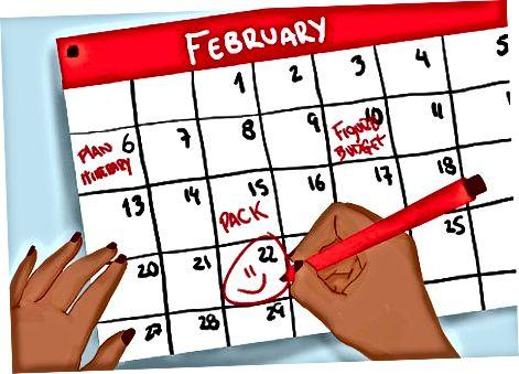 Готовност за вашата дата на заминаване