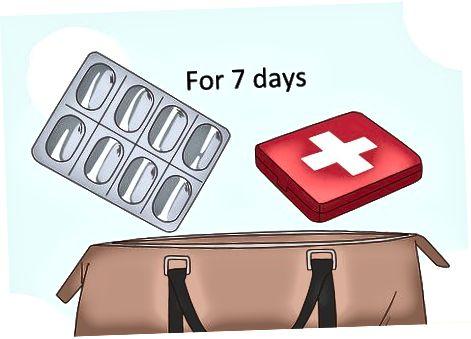 Опаковане на тоалетни принадлежности и лекарства