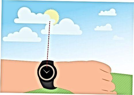 Използване на аналогов ръчен часовник през деня