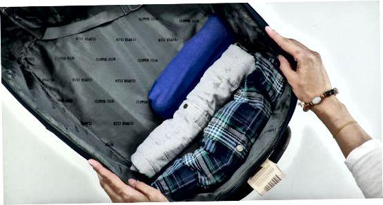 Спестявате място чрез търкаляне на дрехите си