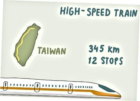 Tayvan atrofida poezdga chiqish
