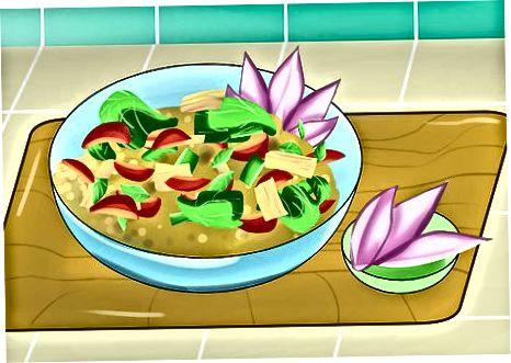 Shtimi i tulipanëve në ushqime të tjera