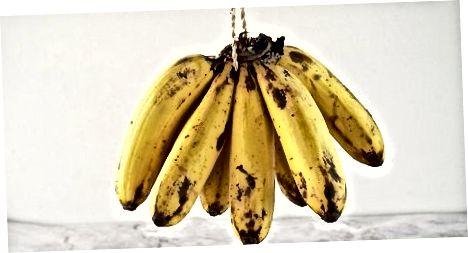 Bananų užšaldymas kepimo projektams