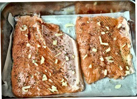 Eritilgan lososni pishirish