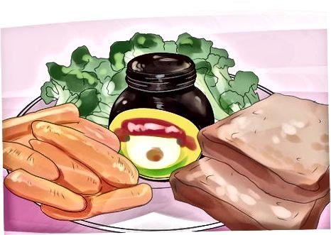 Marrja e një vakt me qendër në Marmite