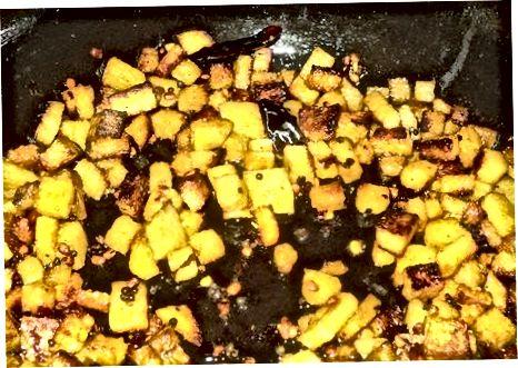 Fritar a seco com curry