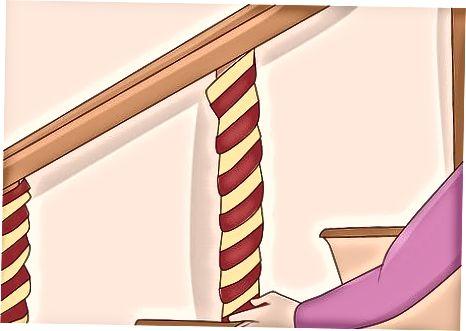 Luftschlangen hängen, drapieren oder einwickeln
