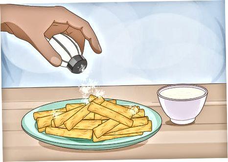 Pechda pishirilgan Yuca Fries pishirish