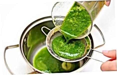 緑のゼリー麺を作る