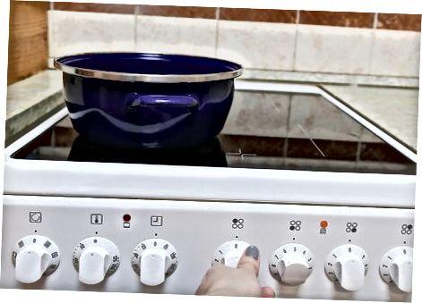 Cozinhando e ricocheteando as batatas