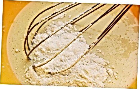Utilitzant mantega en pols a la cocció