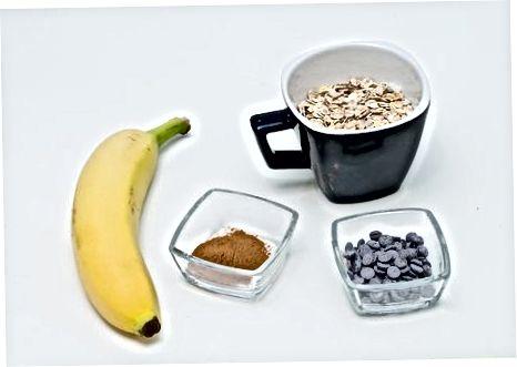 Mikrovalovna ovsena kaša in bananin piškotki