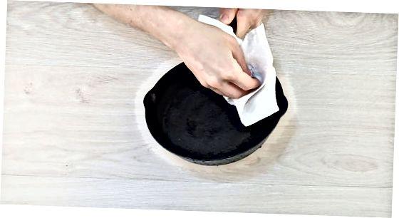 Pärast kasutamist käsitsi pesemiseks mõeldud malm