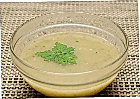 Išgrynintos veganiškos sriubos