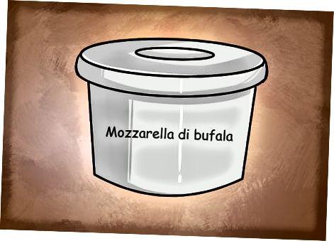 Að nota mismunandi tegundir af mozzarella