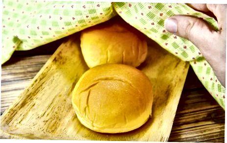 De broodjes opwarmen