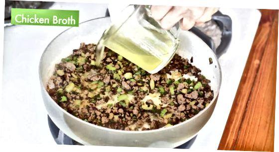 Traditionele vuile rijst maken