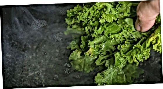 Kochender Grünkohl