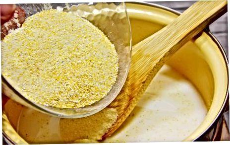 Akmens malimo jankų kruopų gaminimas naudojant rudąjį cukrų