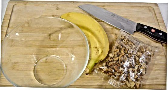 Göra en banan split parfait