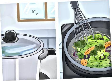 Die Mahlzeiten kochen