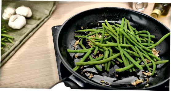 Sautee მწვანე ლობიო