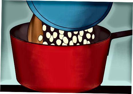 Močenje skodelice iz zmrzali z metlico