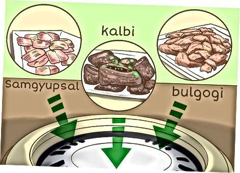 Duke provuar ushqime dhe anët tradicionale koreane