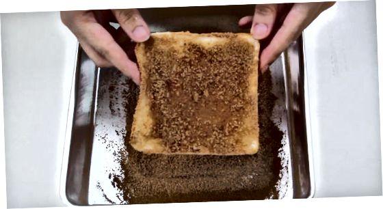 Qovurilgan doljin siropi tosti