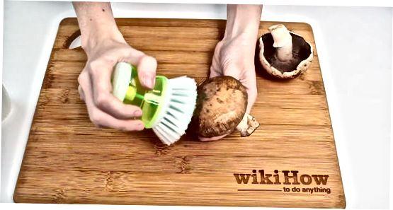 پاک کردن قارچ تمیز