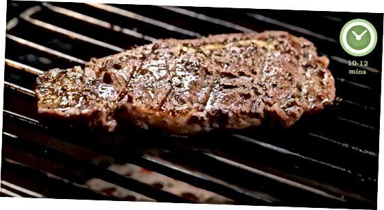 Grilda biftek tayyorlash