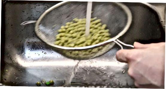 Getrocknete Erbsen kochen