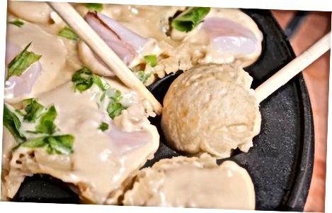 Cozinhando o Takoyaki